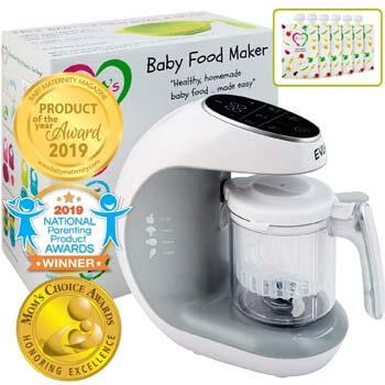 1. EVLA'S Baby Food Maker   Baby Food Processor Blender Grinder Steamer