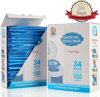9. Diaper Pail Refill Bags, Fully Compatible with Arm & Hammer