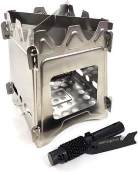 8. Survival Outlaw – Wood Burning Camp Stove –Uses Twigs, Sticks, and Pellets