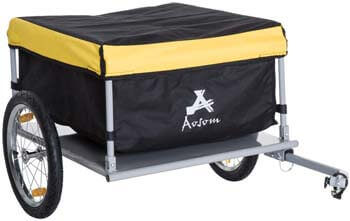7. Aosom Elite Two-Wheel Bicycle Large Cargo Wagon Trailer
