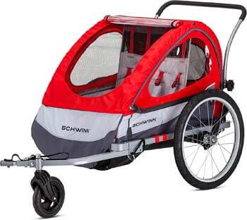 8. Schwinn Joyrider, Echo, and Trailblazer Child Bike Trailer