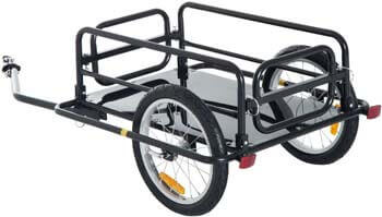 6. Aosom Foldable Bike Cargo Trailer Bicycle Cart Wagon Trailer with Hitch