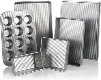 8. USA Pan Bakeware Aluminized Steel 6 Pieces Set