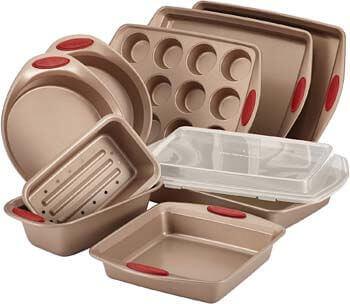 1. Rachael Ray 52410 Cucina Nonstick Bakeware Set