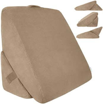 9. Xtra-Comfort Bed Wedge Pillow - Folding Memory Foam Incline Cushion System