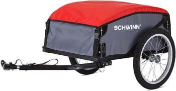 4. Schwinn Day Tripper Cargo Bike Trailer, Folding Frame, Quick Release Wheels