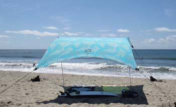 2. Neso Tents Grande Beach Tent, 7ft Tall, 9 x 9ft, Reinforced Corners and Cooler Pocket