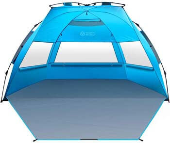 5. OutdoorMaster Pop Up 3-4 Person Beach Tent X-Large
