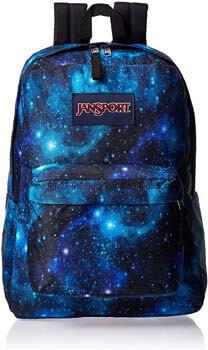 4. JanSport Superbreak One Backpack - Lightweight School Bookbag – Galaxy