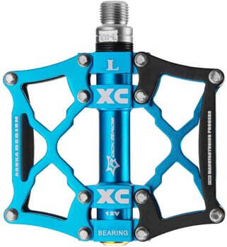 5. ROCK BROS Mountain Bike Pedals Flat Bicycle Pedals