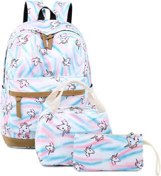 10. CAMTOP Teens Backpack for School Girls Kids School Bookbag Set Travel Daypack