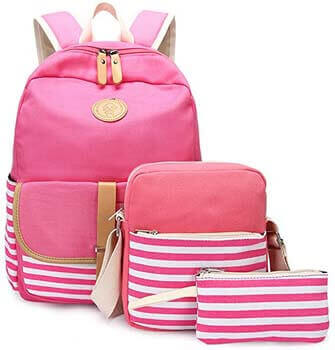 7. Abshoo Causal Travel Canvas Rucksack Backpacks for Girls School Bookbags