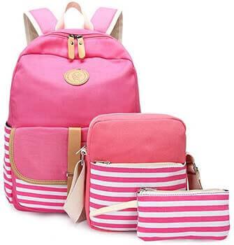 7. Abshoo Causal Travel Canvas Rucksack Backpacks for Girls School Bookbags