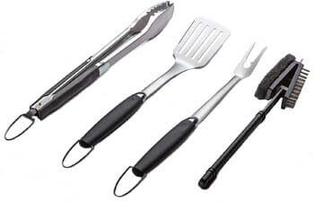 3. Simplistex - Heavy Duty - 4 Piece Stainless Steel Barbecue Grill Tool Set