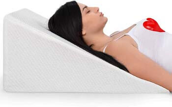 2. Ebung Bed Wedge Pillow with Memory Foam Top