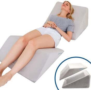 7. Lisenwood Foam Bed Wedge Pillow Set