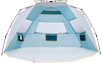 9. WolfWise 4 Person Easy Up Beach Tent