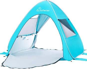 3. WolfWise UPF 50+ Easy Pop Up Beach Tent