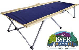 5. BYER OF MAINE Easy Cot, Full Size 78