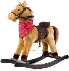10. JOON Cowboy Rocking Horse - Tan Brown