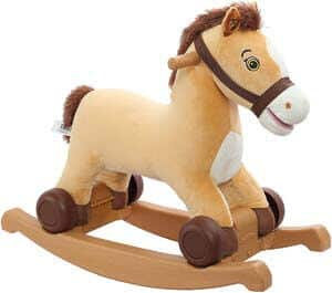 6. Rockin' Rider Charger 2-in-1 Pony Ride-On