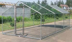 9. ChickenCoopOutlet Large Metal 20x10 ft. Chicken Coop Backyard Hen House Cage Run Outdoor Cage