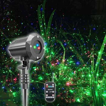 6. Poeland Christmas Projector Light, Moving Model, RGB (Red, Green, Blue)