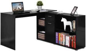 4. Tangkula L Shaped Desk Corner Desk, Home Office Wood Computer Workstation
