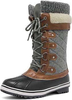 4. DREAM PAIRS Women's Mid-Calf Winter Snow Boots