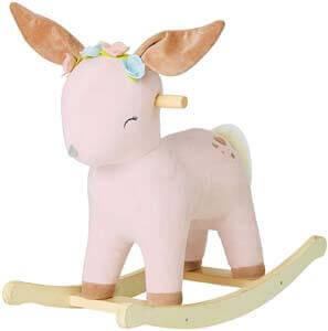 8. labebe Child Rocking Horse Toy, Stuffed Animal Rocker Toy, 2 in 1 Rocker