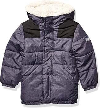 10. OshKosh B'Gosh Boys' Big Heavyweight Winter Jacket with Sherpa Lining