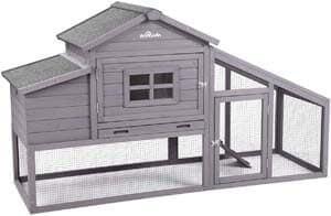5. Aivituvin 69-in Wooden Chicken Coop, Outdoor Large Hen House