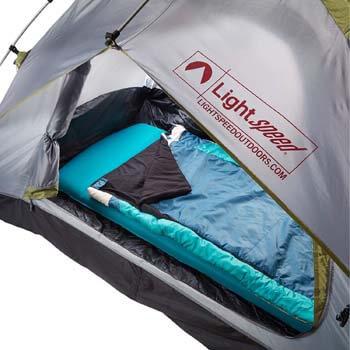 6. Lightspeed Outdoors XL Super Plush FlexForm Premium Self-Inflating Insulated Sleep and Camp Foam Pad