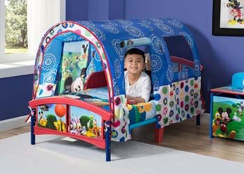 6. Delta Children Toddler Tent Bed, Disney Mickey Mouse