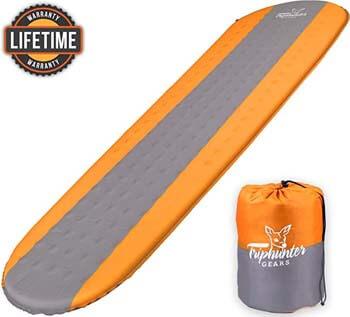 8. Self Inflating Sleeping Pad Lightweight - Compact Foam Padding Waterproof Inflatable Mat