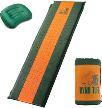 7. Ryno Tuff Sleeping Pad Set, Self-inflating Sleeping Pad