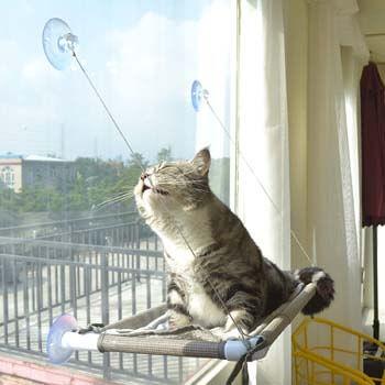 10. Cat Window Perch, Cat Hammock Window Seat