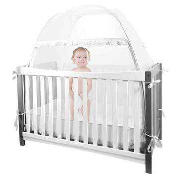 7. HanYun Baby Crib Safety Pop Up Tent