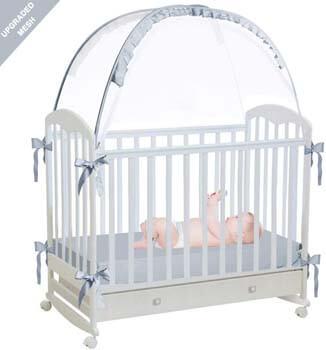 4. RUNNZER Baby Crib Safety Pop Up Tent