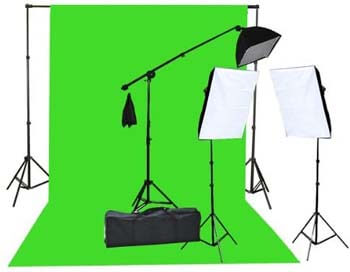 6. Fancierstudio 2000 Watt Lighting Kit