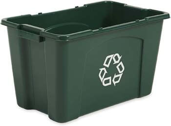 2. Rubbermaid Commercial Stackable Recycling Bin