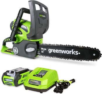 6. Greenworks 12-Inch 40V Cordless Chainsaw