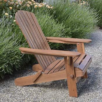 7. Plant Theatre Adirondack Folding Hardwood Chair