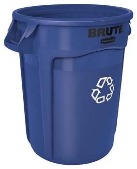 1. Rubbermaid Commercial BRUTE Heavy-Duty Round Recycling Bin
