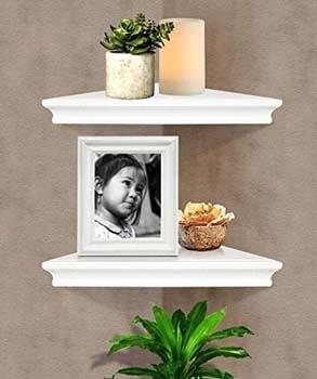3. SHELVING SOLUTION Corner Wall Shelf (White)