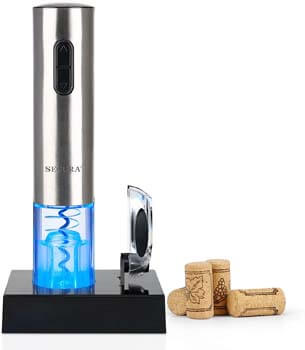 9. Secura Electric Wine Opener, Automatic Electric Wine Bottle Corkscrew Opener with Foil Cutter