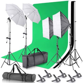 1. Neewer Umbrellas Softbox Continuous Lighting Kit
