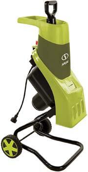 8. Sun Joe CJ602E 15-Amp Electric Wood Chipper/Shredder, Green
