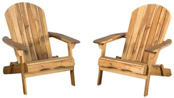 10. Christopher Knight Home Natural Stained Wood Adirondack Chairs