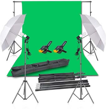 2. Emart Photography Backdrop Continuous Umbrella Studio Lighting Kit